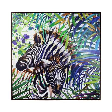 tela impressa zebr\ arbustos  90x90x4cm