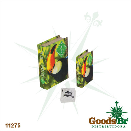-book box cj 2pc tucano amazonia  20x14x4cm