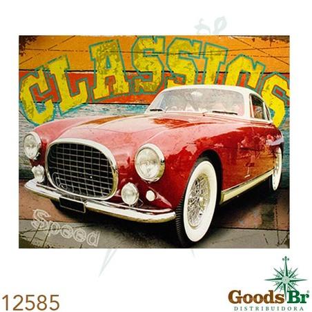-tela impressa carro vermelho  classics  80x100x4cm