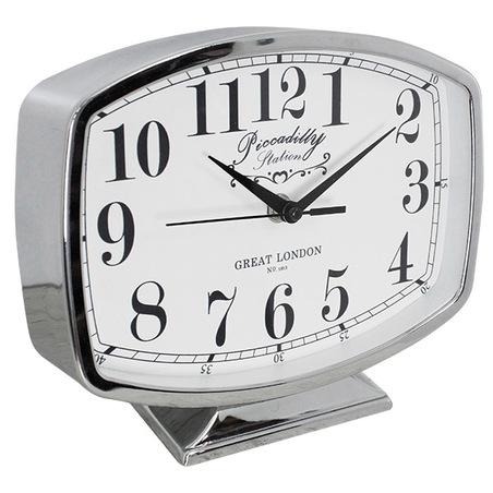 relogio de mesa belle silver g 19x22x5cm