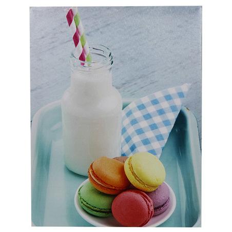 -tela imp macarrons & milkshake  30x40x1,8cm