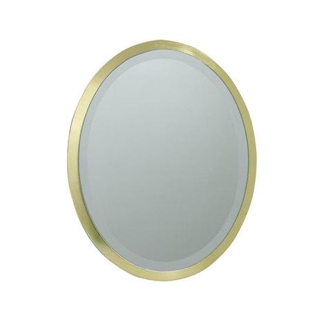 ESPELHO OVAL MDF GOLD GOLD GOLDWAY 52x37x1,6cm