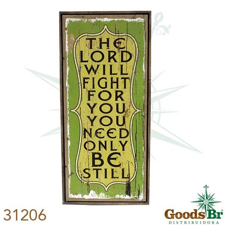 -quadro linho antique the lord 127x56x4cm