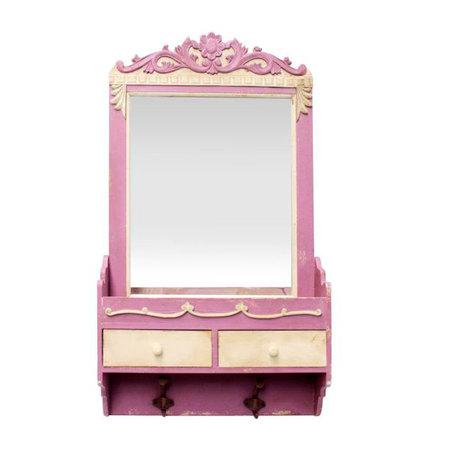 -espelho c aparador 2gavets 2 ganchos  80x45x12cm