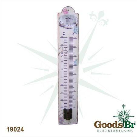 termometro metal moinhos  60x10x1,5cm