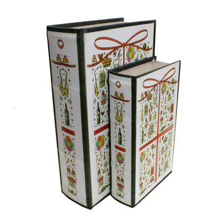 -book box presente cj 2pc  27x18x7cm