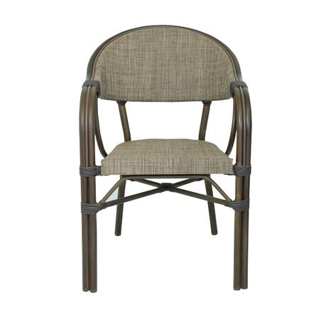 cadeira armacao aluminio brown  83x57x57cm