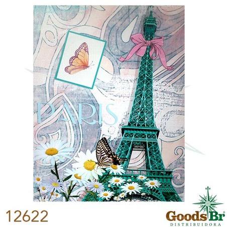 -tela impressa torre eiffel verde  90x70x4cm