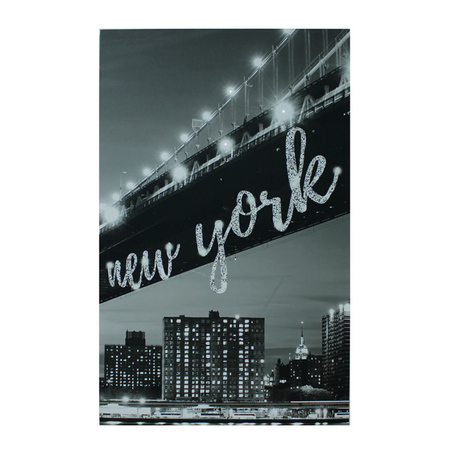 tela impressa new york citycom led 3  100x160x4cm