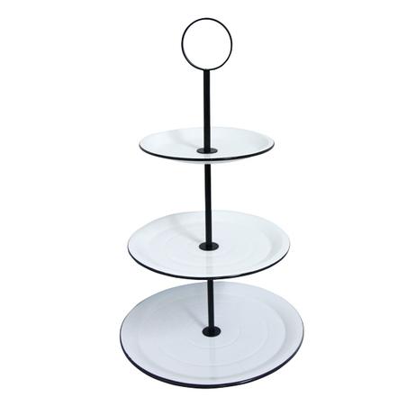 fruteira de mesa 3 andares branca 68x40x40cm