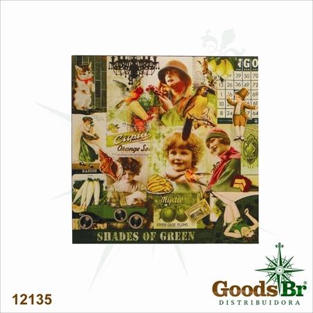 -tela impressa fotos vintagegreen  70x70x2,5cm