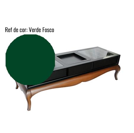 MESA DE CENTRO BAR VETTA UNA LACA VERDE FOSCO 48x170x62cm