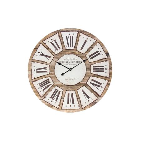 relogio parede cor madei bordeaux  d=80 80x80x4,5cm