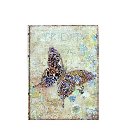 -book box borboleta em metalfriends  24x18x6cm