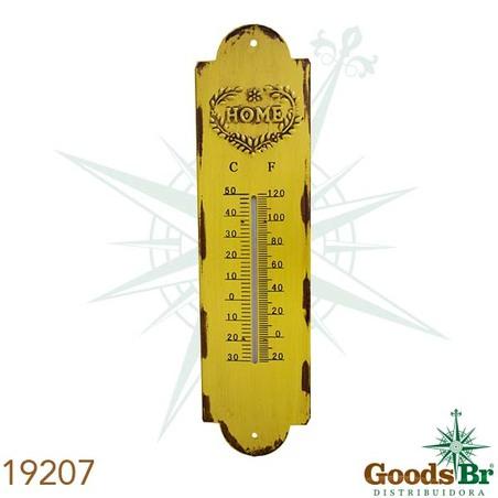 termometro em metal amarelohome  39x10x0,5cm