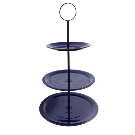 fruteira de mesa 3 andares azul 68x40x40cm