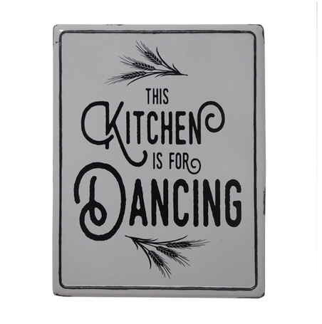 placa metal kitchen grey 45,5x35,5x1,7cm