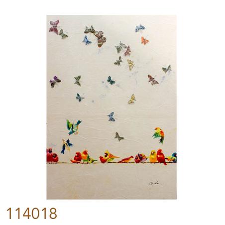 -quadro pintura borboletas voando 2  140x100x4cm