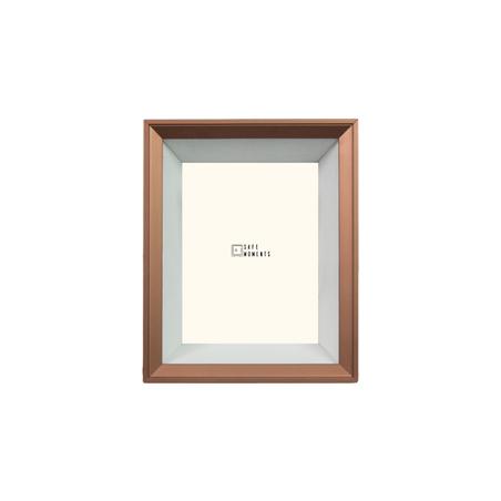 quadro safe moments branco/cobre 23x28x7cm