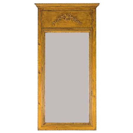 espelho trabalhado moldura amarela  160x84x5cm