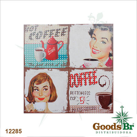 tela impressa hot coffee  80x80x4cm