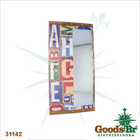 -espelho c/ ganchos grande abc design  160x80x7cm
