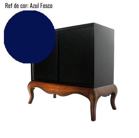 BALCAO BAR VETTA UNA LACA AZUL FOSCO 90x100x50cm