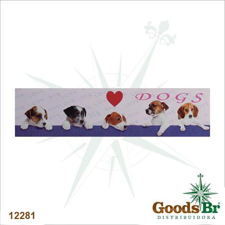 -tela impressa dogs coracao30x120x3cm