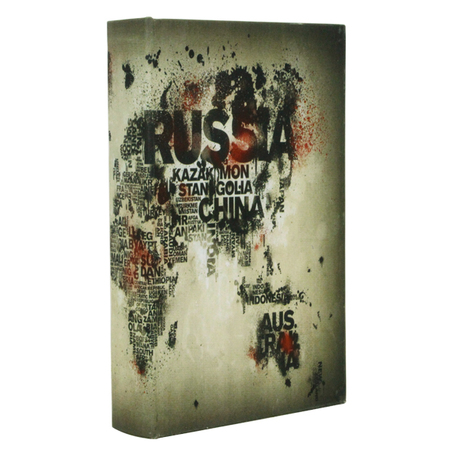 book box p world mapoldway 27x18x4cm