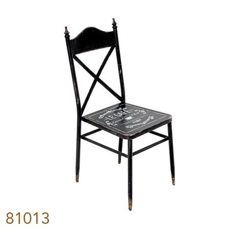 cadeira metal vintage preta92,5x39x52cm
