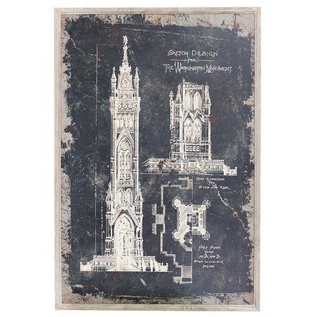 quadro washington monument 120x80x3cm