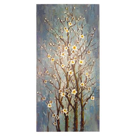 tela a Óleo cerejeira azul180x90x3,8cm