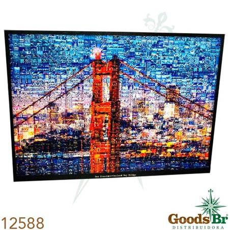 tela impressa imagens pontebroklin  100x140x4cm