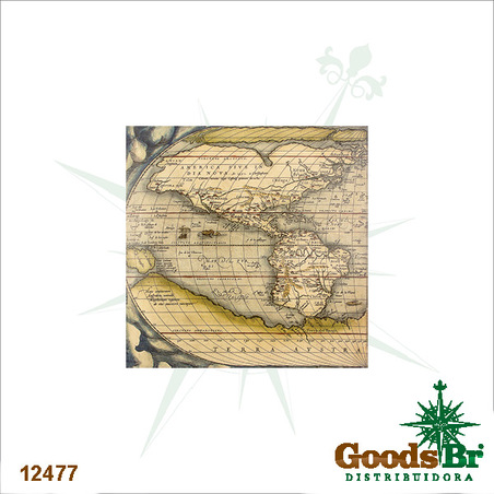 tela impressa mapa america s  100x100x4cm