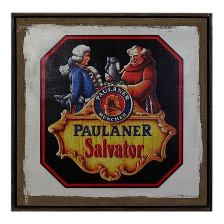 quadro linho paulaner salvator  80x80x4cm