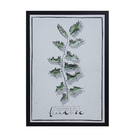 tela impressa c/ mold folhas balance  70x50x3cm