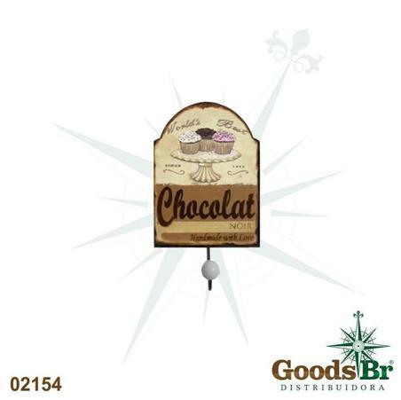 -cabideiro metal 1 gancho chocolat  22x10x7cm