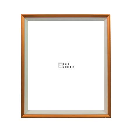 quadro safe moments branco/cobre 70x60x7cm