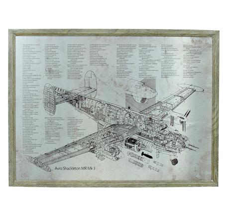 -quadro estrutura aviao mr mk3 60x80x3cm
