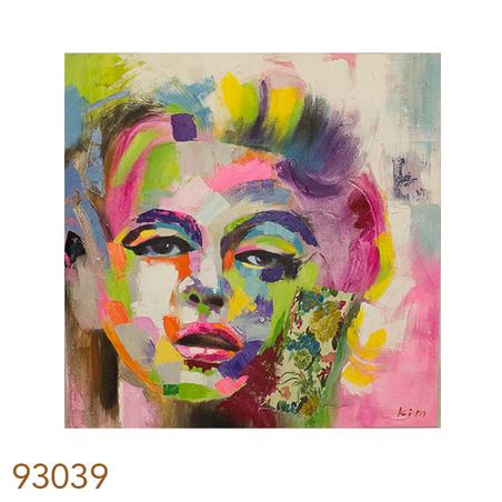 -quadro pintura rosto mulhercolors  100x100x4cm