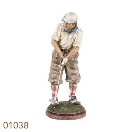 golfista camisa branca  29x12x12cm