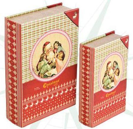 book box cj 2pc christmas  27x18x7cm