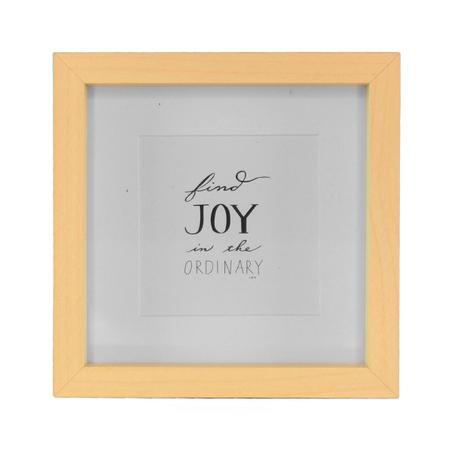 porta retrato joy madeira branco e bege 17x17x2cm