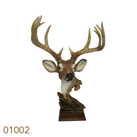 cabeca de cervo mesa galhadam 74x51x37cm