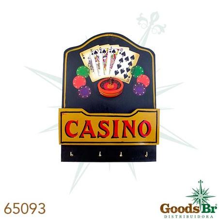 -quadro madeira casino 4 gancs  35x25x5cm