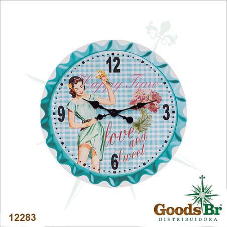 -relogio parede happy time  50x50x2cm