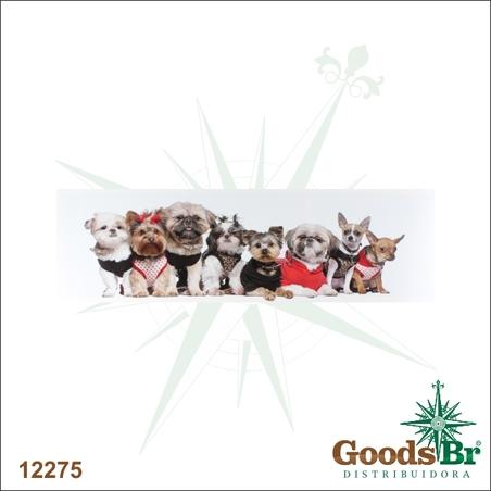 tela impressa cachorros 30x100x3cm