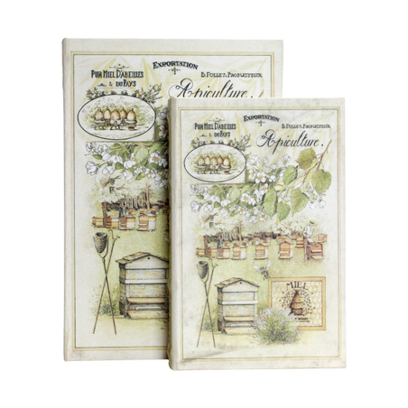 book box cj 2pc puro mel colmeias  33x22x7cm