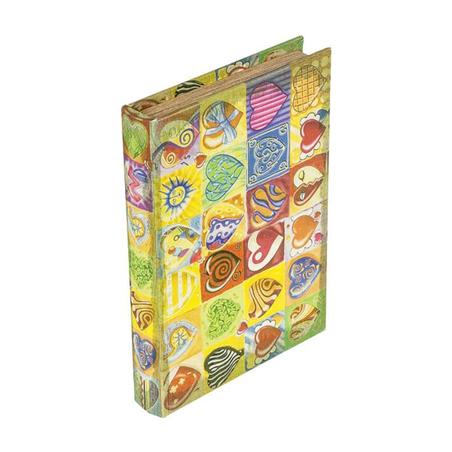 -book box cj 2pc coraÇÃo comflores  28x21x7cm