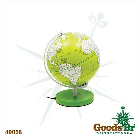 globo iluminado color verde 30x27x25cm